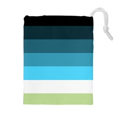 Line Color Black Green Blue White Drawstring Pouches (extra Large) by Jojostore