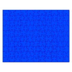 Plain Blue Rectangular Jigsaw Puzzl by Jojostore