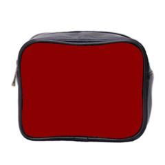 Plain Blue Red Mini Toiletries Bag 2 Side by Jojostore