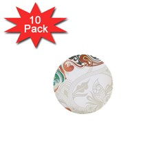 Flower Floral Tree Leaf 1  Mini Buttons (10 Pack)  by Jojostore