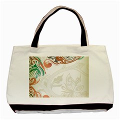 Flower Floral Tree Leaf Basic Tote Bag by Jojostore