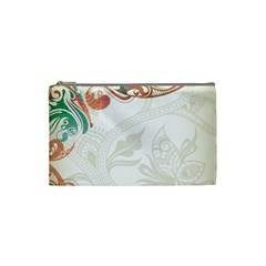 Flower Floral Tree Leaf Cosmetic Bag (small)  by Jojostore