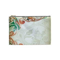 Flower Floral Tree Leaf Cosmetic Bag (medium)  by Jojostore