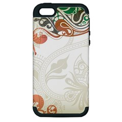 Flower Floral Tree Leaf Apple Iphone 5 Hardshell Case (pc+silicone) by Jojostore