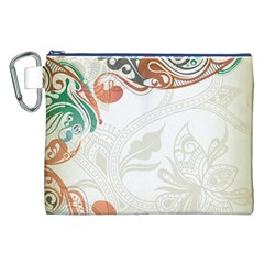 Flower Floral Tree Leaf Canvas Cosmetic Bag (xxl) by Jojostore