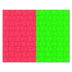 Neon Red Green Rectangular Jigsaw Puzzl by Jojostore