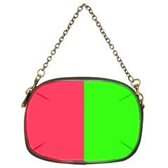 Neon Red Green Chain Purses (two Sides)  by Jojostore