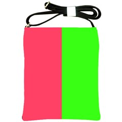Neon Red Green Shoulder Sling Bags by Jojostore