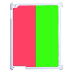 Neon Red Green Apple Ipad 2 Case (white) by Jojostore