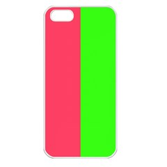 Neon Red Green Apple Iphone 5 Seamless Case (white) by Jojostore