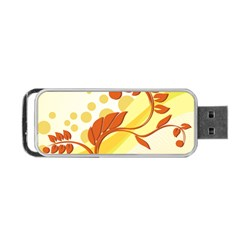 Floral Flower Gold Leaf Orange Circle Portable Usb Flash (one Side) by Jojostore