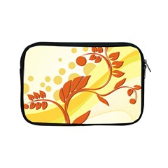 Floral Flower Gold Leaf Orange Circle Apple Ipad Mini Zipper Cases by Jojostore