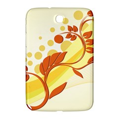 Floral Flower Gold Leaf Orange Circle Samsung Galaxy Note 8 0 N5100 Hardshell Case  by Jojostore