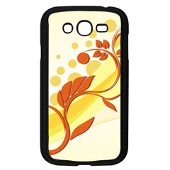 Floral Flower Gold Leaf Orange Circle Samsung Galaxy Grand Duos I9082 Case (black) by Jojostore