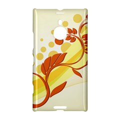 Floral Flower Gold Leaf Orange Circle Nokia Lumia 1520 by Jojostore