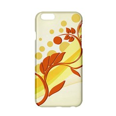 Floral Flower Gold Leaf Orange Circle Apple Iphone 6/6s Hardshell Case by Jojostore