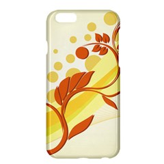 Floral Flower Gold Leaf Orange Circle Apple Iphone 6 Plus/6s Plus Hardshell Case by Jojostore