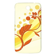 Floral Flower Gold Leaf Orange Circle Samsung Galaxy Mega I9200 Hardshell Back Case by Jojostore