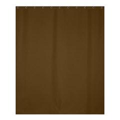 Plain Brown Shower Curtain 60  X 72  (medium)  by Jojostore