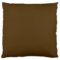 Plain Brown Large Cushion Case (two Sides) by Jojostore