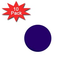 Plain Violet Purple 1  Mini Buttons (10 Pack)  by Jojostore