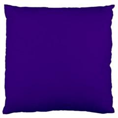 Plain Violet Purple Large Flano Cushion Case (two Sides) by Jojostore
