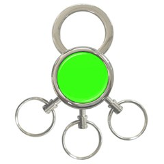 Plain Green 3-Ring Key Chains