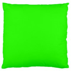 Plain Green Large Flano Cushion Case (one Side) by Jojostore