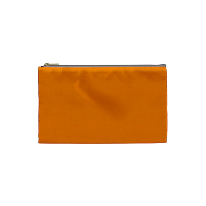 Plain Orange Cosmetic Bag (Small)
