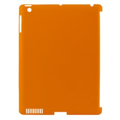 Plain Orange Apple Ipad 3/4 Hardshell Case (compatible With Smart Cover) by Jojostore