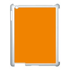 Plain Orange Apple Ipad 3/4 Case (white) by Jojostore