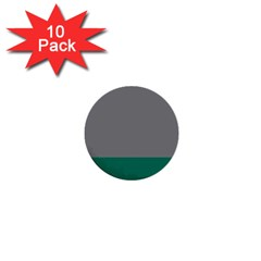 Trolley Grey Green Tropical 1  Mini Buttons (10 pack)  by Jojostore