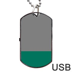 Trolley Grey Green Tropical Dog Tag Usb Flash (one Side) by Jojostore
