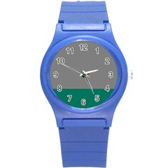Trolley Grey Green Tropical Round Plastic Sport Watch (s) by Jojostore