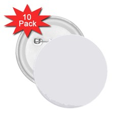Plain White 2 25  Buttons (10 Pack)  by Jojostore