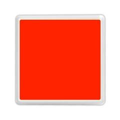 Plain Orange Red Memory Card Reader (square)  by Jojostore