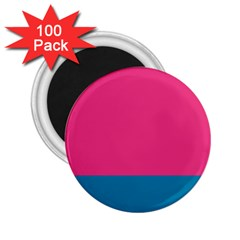 Trolley Pink Blue Tropical 2 25  Magnets (100 Pack)  by Jojostore