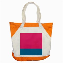 Trolley Pink Blue Tropical Accent Tote Bag by Jojostore