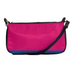 Trolley Pink Blue Tropical Shoulder Clutch Bags by Jojostore