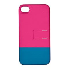 Trolley Pink Blue Tropical Apple Iphone 4/4s Hardshell Case With Stand by Jojostore