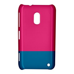 Trolley Pink Blue Tropical Nokia Lumia 620 by Jojostore
