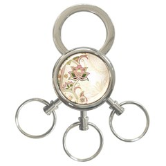 Floral Flower Star Leaf Gold 3 Ring Key Chains by Jojostore