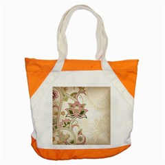 Floral Flower Star Leaf Gold Accent Tote Bag by Jojostore