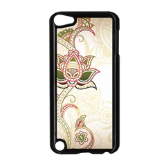 Floral Flower Star Leaf Gold Apple Ipod Touch 5 Case (black) by Jojostore