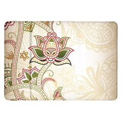 Floral Flower Star Leaf Gold Samsung Galaxy Tab 8 9  P7300 Flip Case by Jojostore