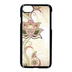 Floral Flower Star Leaf Gold Apple Iphone 7 Seamless Case (black) by Jojostore