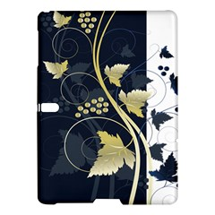 Tree Leaf Flower Circle White Blue Samsung Galaxy Tab S (10 5 ) Hardshell Case  by Jojostore
