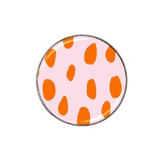 Polka Dot Orange Pink Hat Clip Ball Marker (10 Pack) by Jojostore