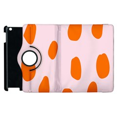 Polka Dot Orange Pink Apple Ipad 3/4 Flip 360 Case by Jojostore