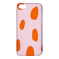 Polka Dot Orange Pink Apple Iphone 5c Hardshell Case by Jojostore